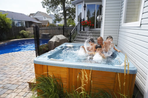 Above ground hot tubs picture
