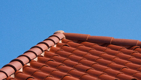 Tile roofing picture