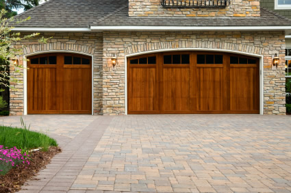 Wood garage doors picture
