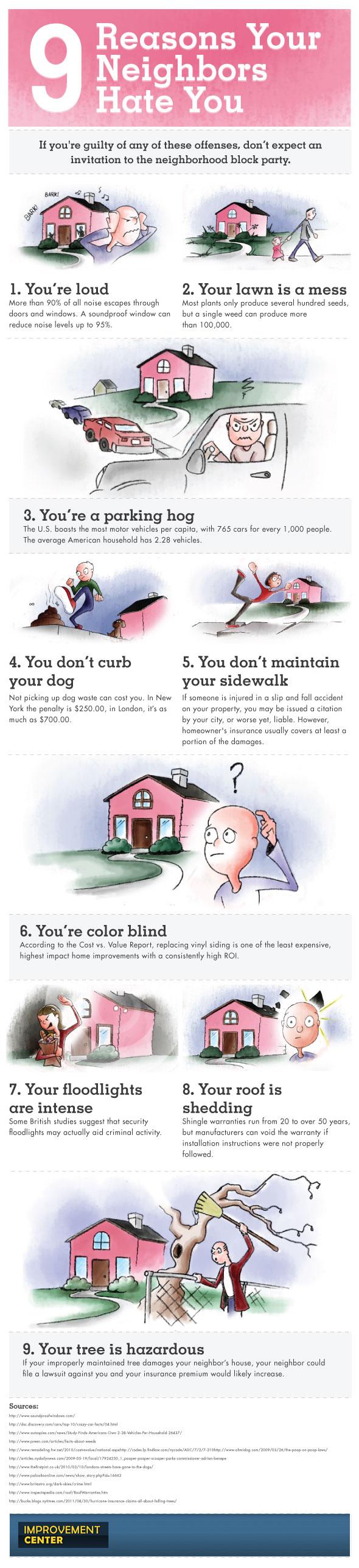9 reasons neighbors hate you