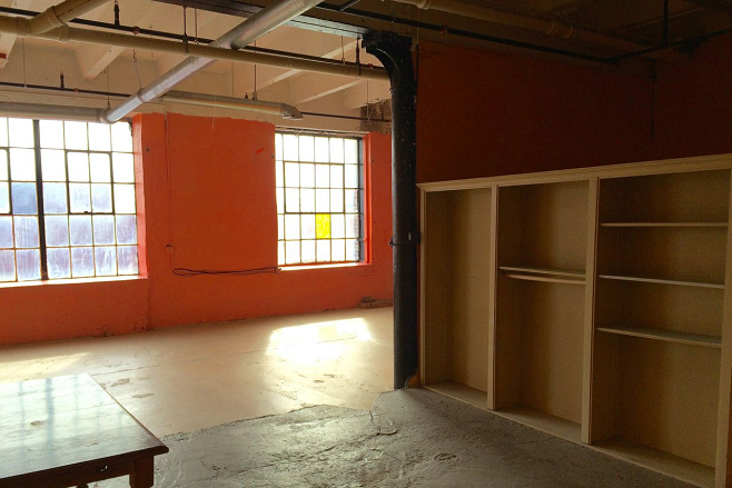 Loft office before renovation