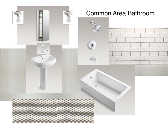 sampleboard for bathroom