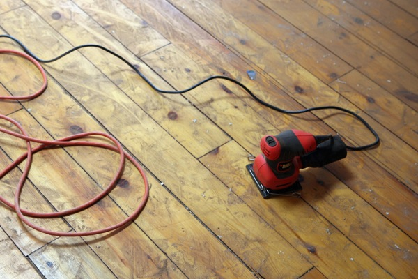 electric sander and dust
