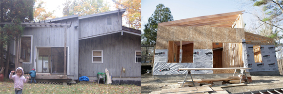 house before and after addition