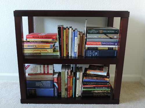 Bookcase in home office