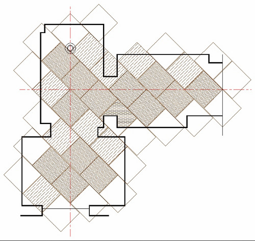 mock-up of tile layout