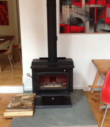 steel wood burning stove