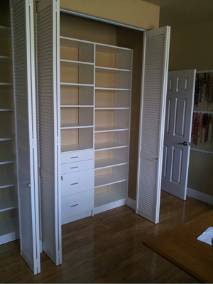 Closet storage for crafter