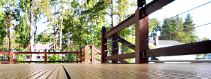 Dark wood home deck