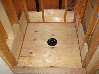 Starting a bathroom remodel shower removal - How to replace subfloor in bathroom ...