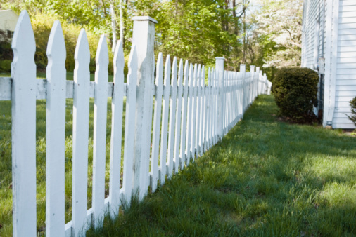 Wood fencing picture