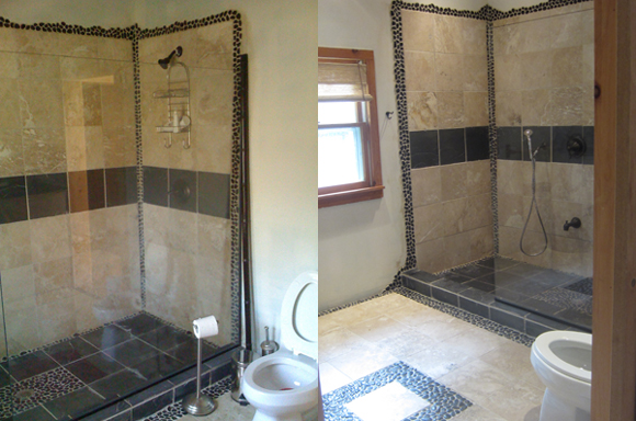 Master Bathroom With Reclaimed Materials - Gutting a bathroom