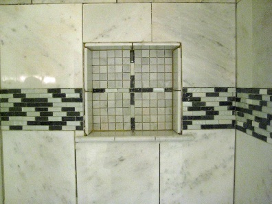 shower shelf no grout