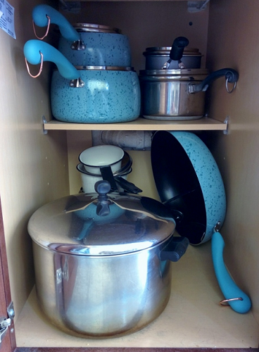 Pots and pans organized