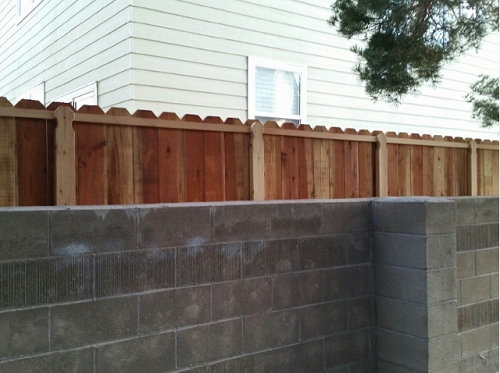 Fence built from scratch