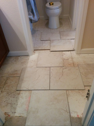 Half off center tile layout
