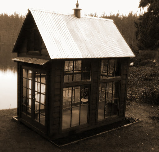 tiny lake house shed