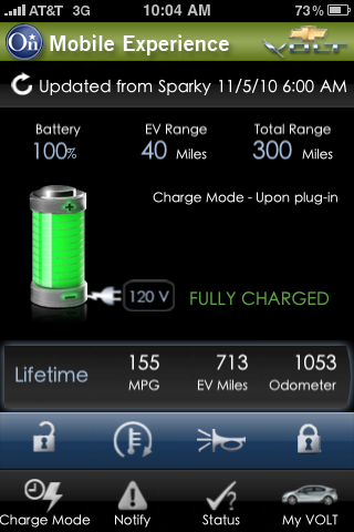 Chevy Volt app for iphone