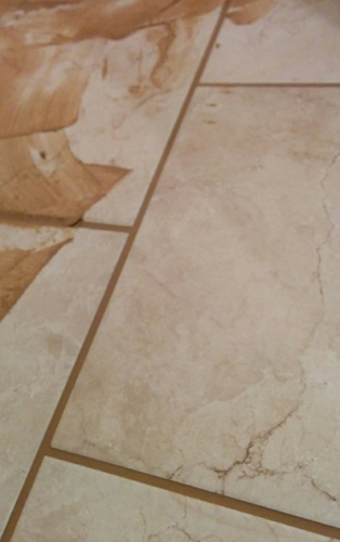 Floor tiles mid grouting