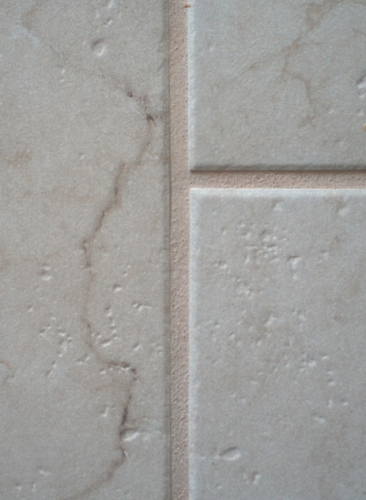 Tile with lighter grout