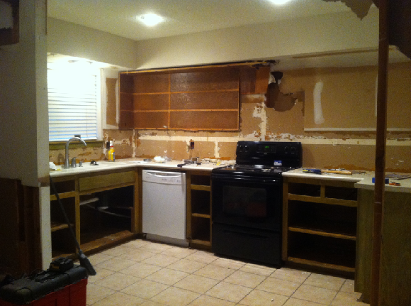 Mid-renovation kitchen