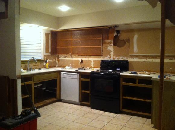 Mid Renovation Kitchen