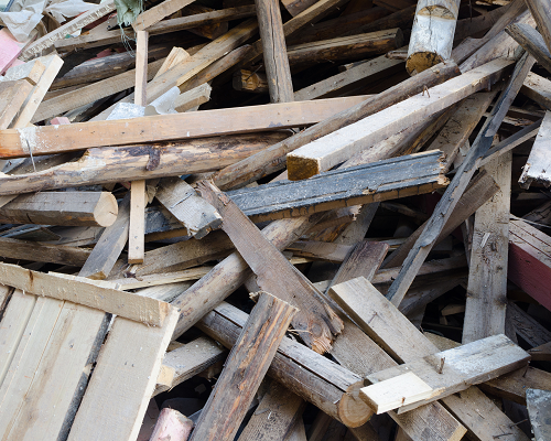 pile of old lumber