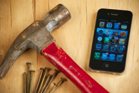 iphone and hammer