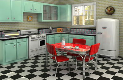 1950s house interior. If You Were Doing Some Interior Painting In The 50s  Pastels All Rage Pink Turquoise Mint Green Pale Yellow And Blue At Top Of Many Decade By Decade Home Trends ImprovementCenter Com