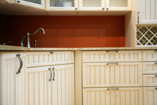 Beadboard cabinets picture