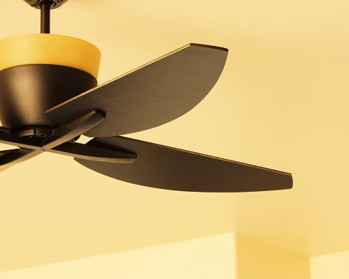 Bronze oiled ceiling fan