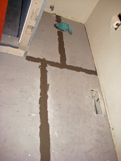 installing floor backerboard