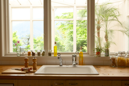 Wood countertop picture