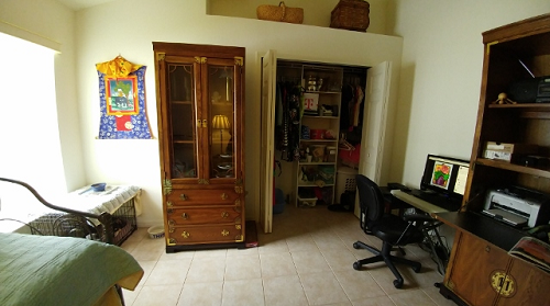 Organized temporary living space