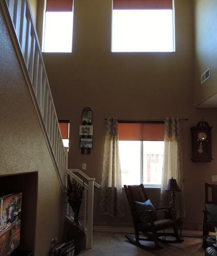Windows before and after curtains