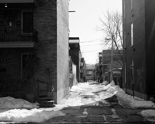 Bleak winter street