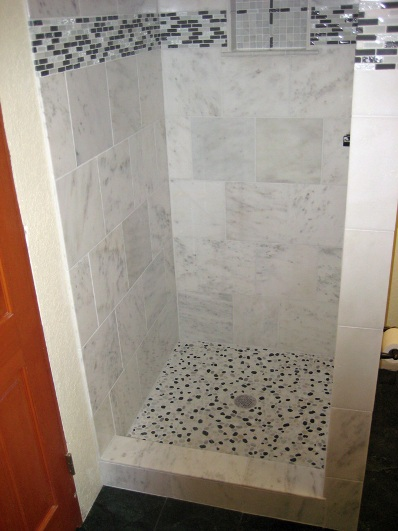 new diy tiled shower stall