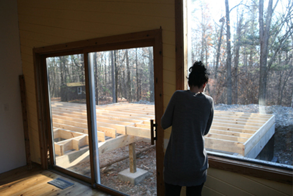 sliding glass door and new construction