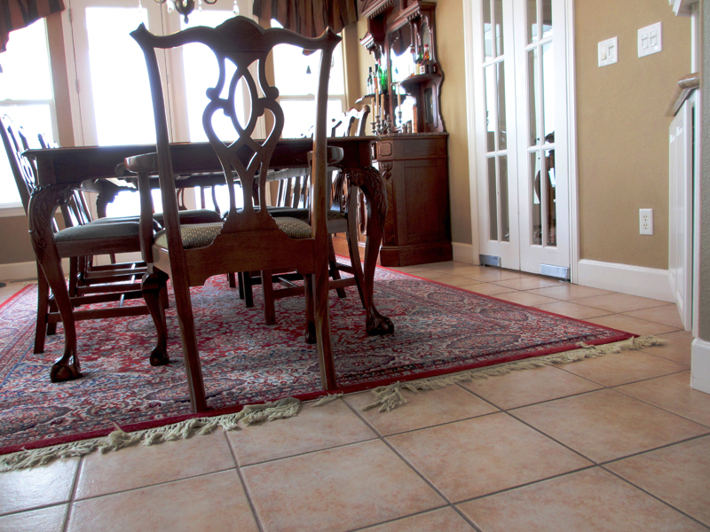 Tile Floor In Dining Room
